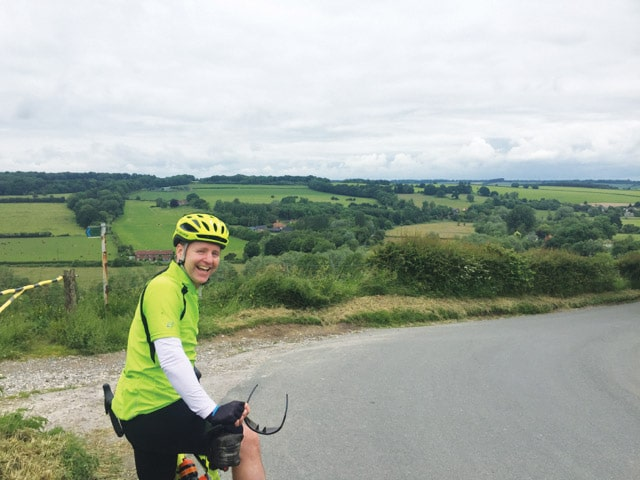 Gary cycling for Ark Cancer Centre