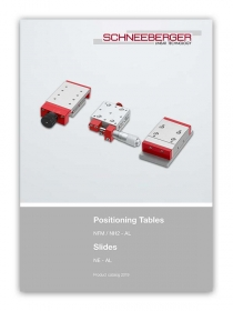 Schneeberger Slides and Positioning Tables Product Catalogue